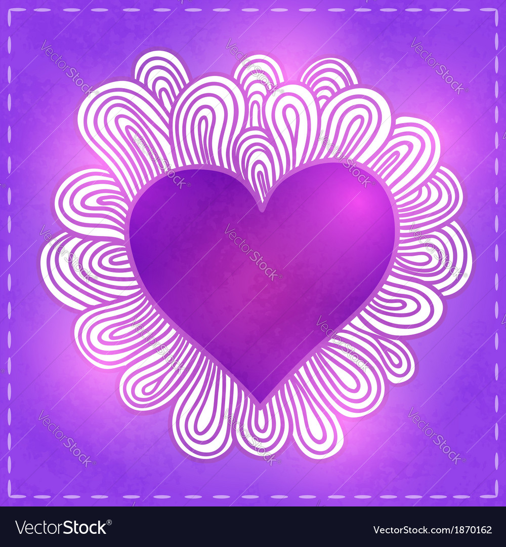 Doodle heart valentines day vector   Price: 1 Credit (USD $1)