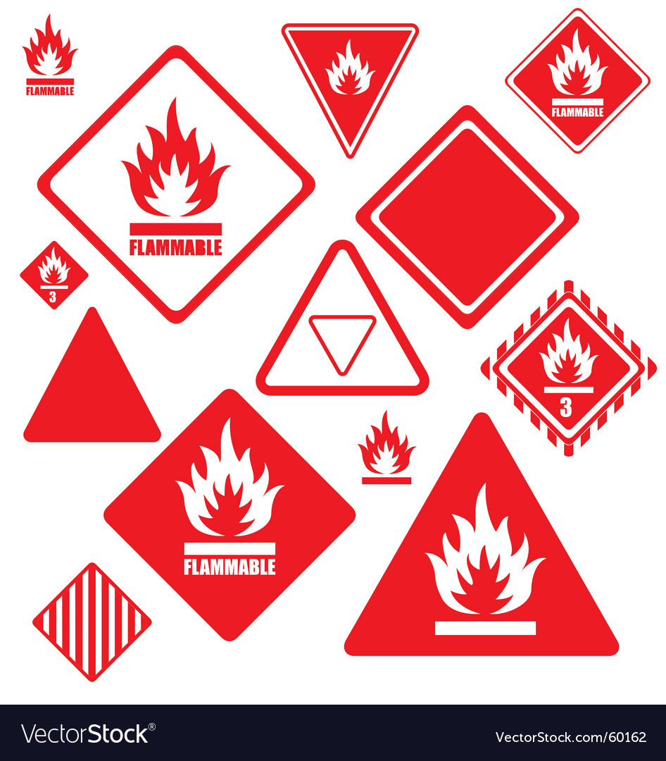 Flammable signs vector | Price: 1 Credit (USD $1)