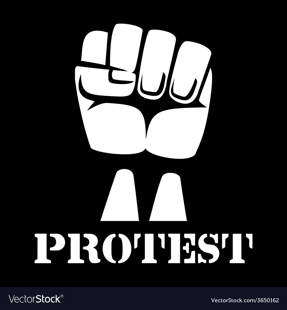 Raised fist sign of protest and revolution vector | Price: 1 Credit (USD $1)