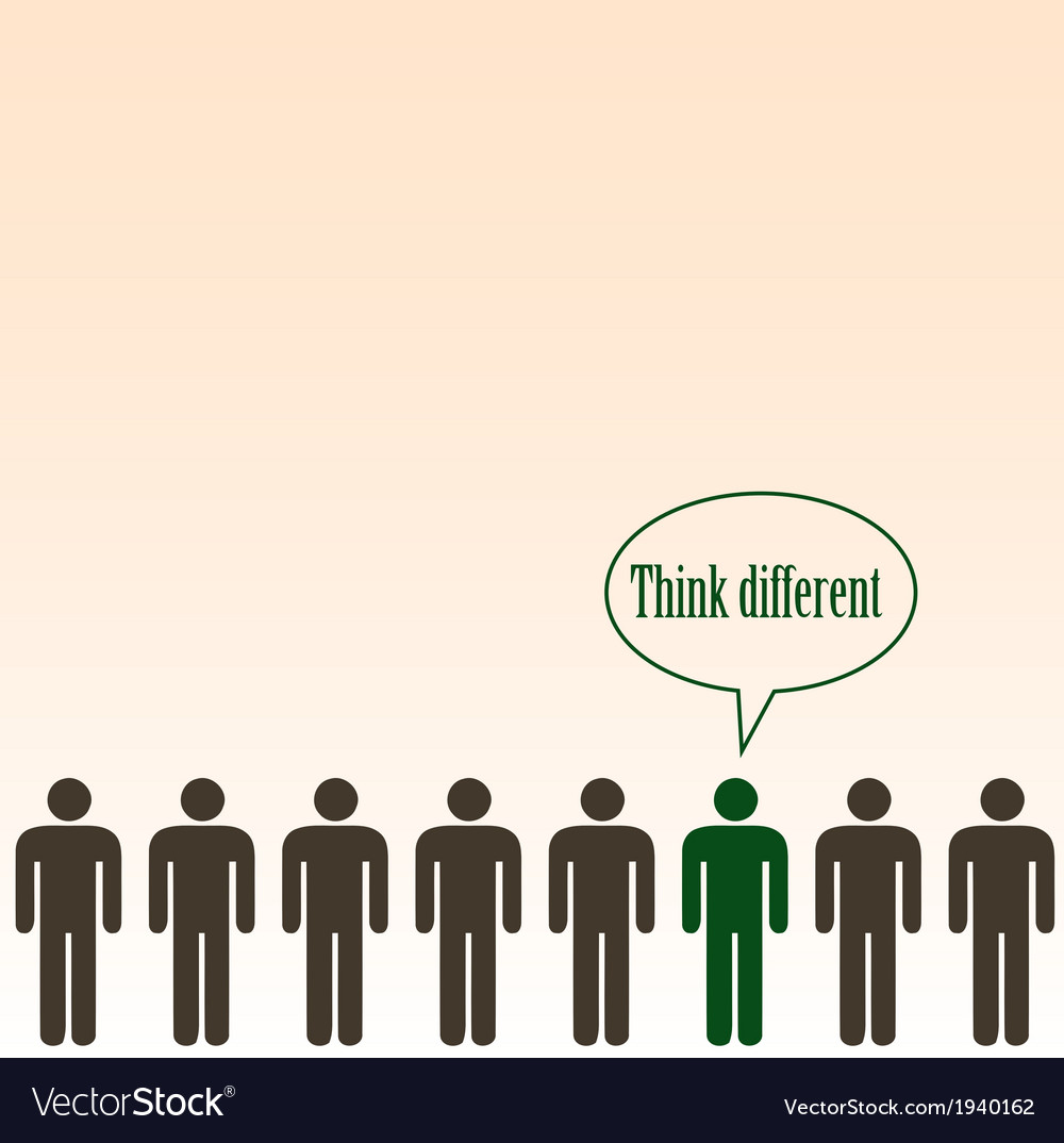 Think different concept- background vector | Price: 1 Credit (USD $1)
