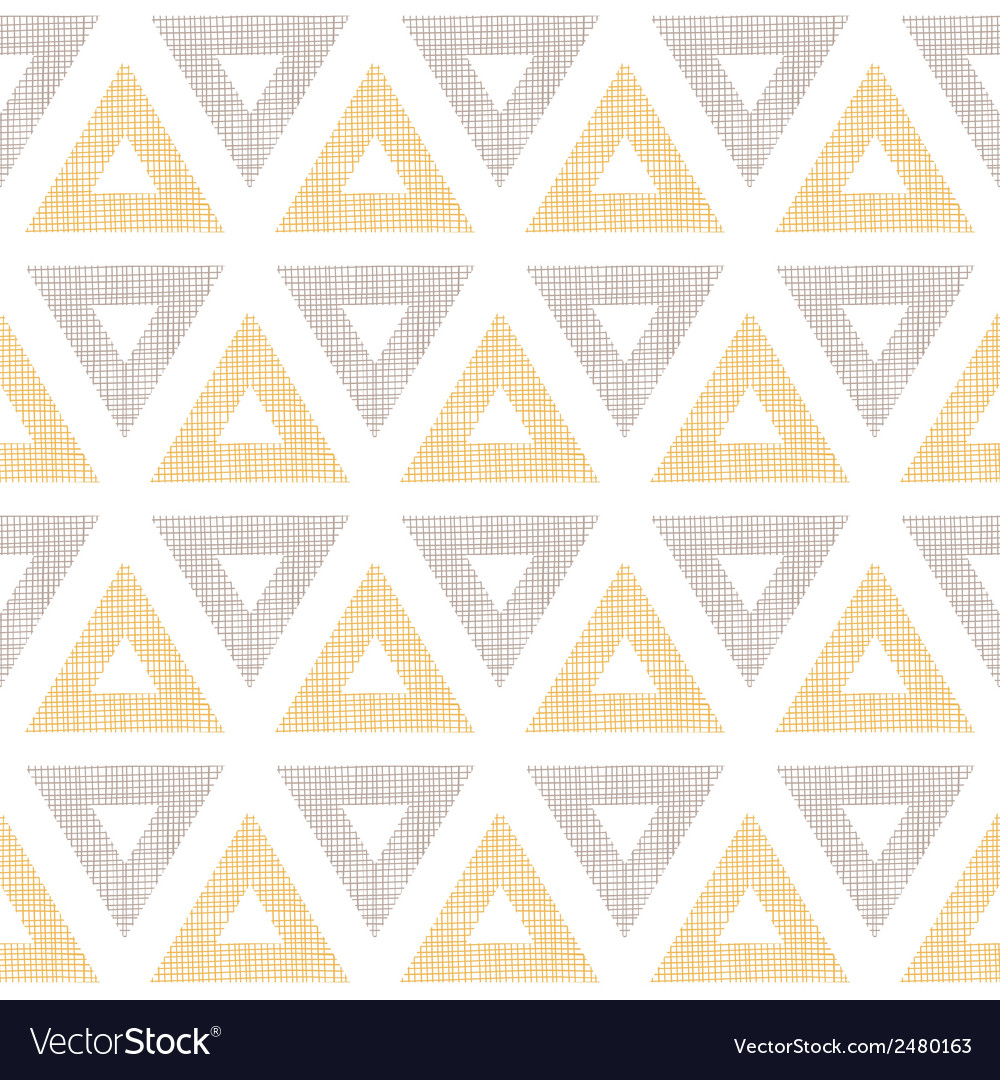 Abstract textile ikat yellow brown triangles vector | Price: 1 Credit (USD $1)