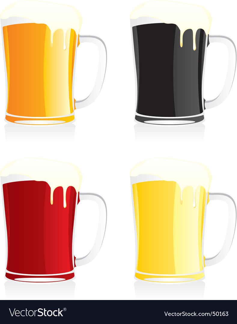 Beer mugs vector | Price: 1 Credit (USD $1)