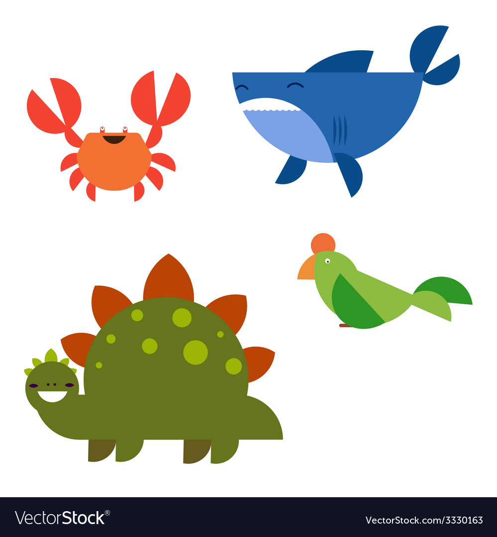 Cartoon animals characters vector | Price: 1 Credit (USD $1)