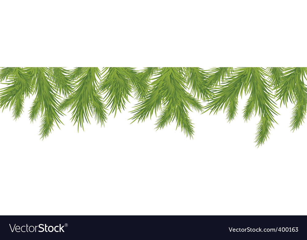 Christmas tree border vector | Price: 1 Credit (USD $1)