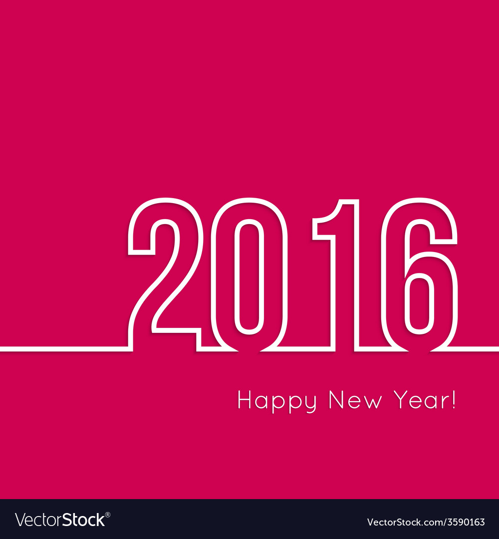 Creative happy new year 2016 design vector | Price: 1 Credit (USD $1)