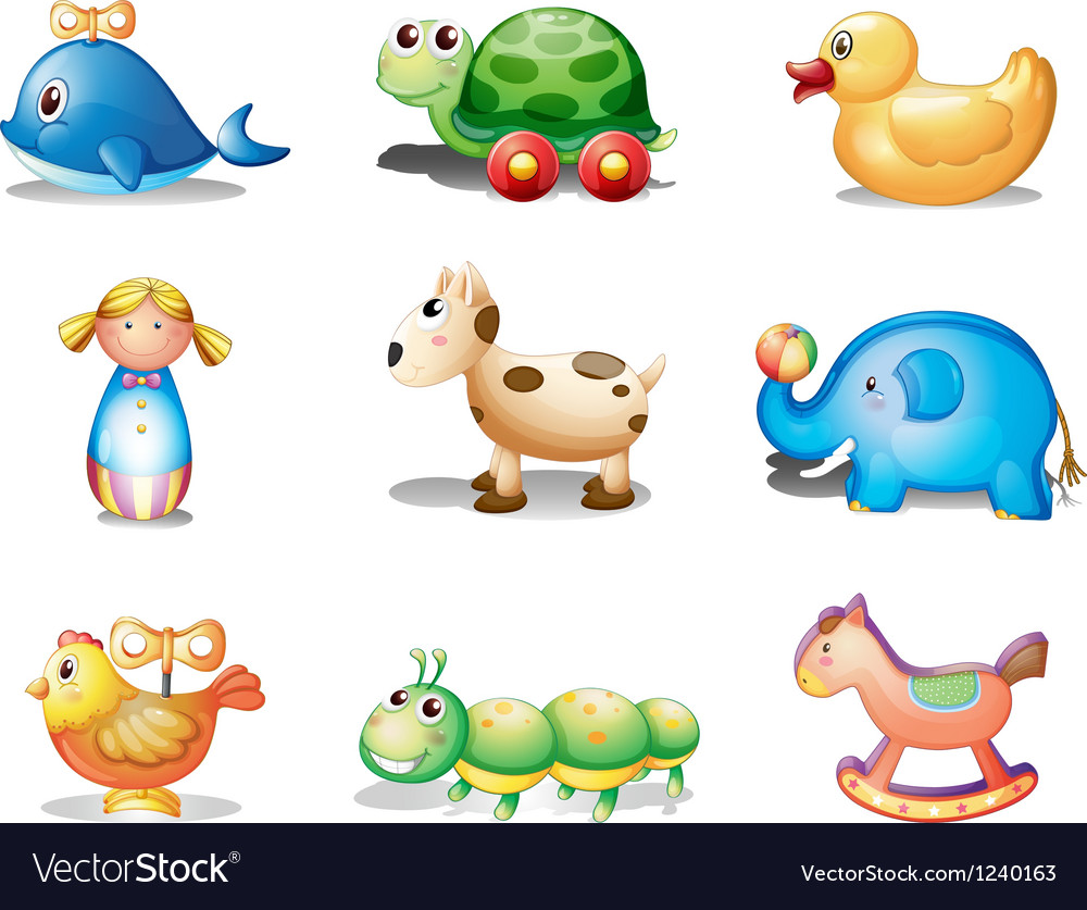 Different toys for kids vector | Price: 1 Credit (USD $1)