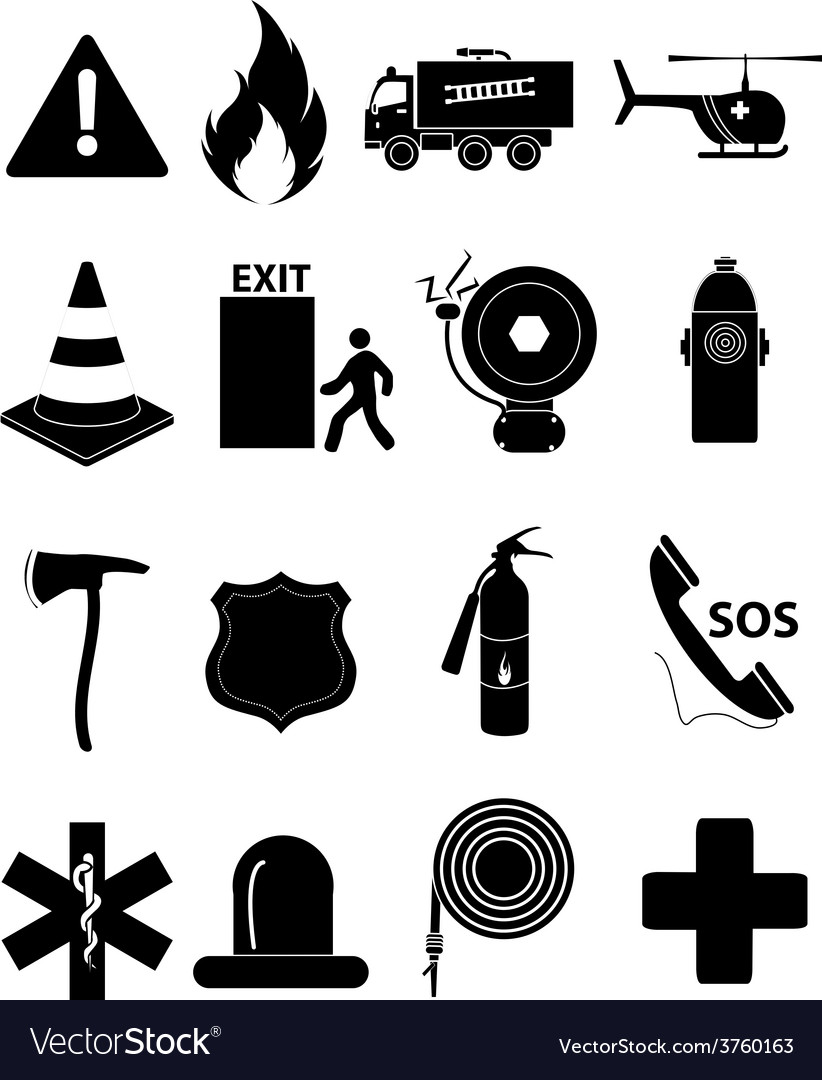 Emergency icons set vector | Price: 3 Credit (USD $3)
