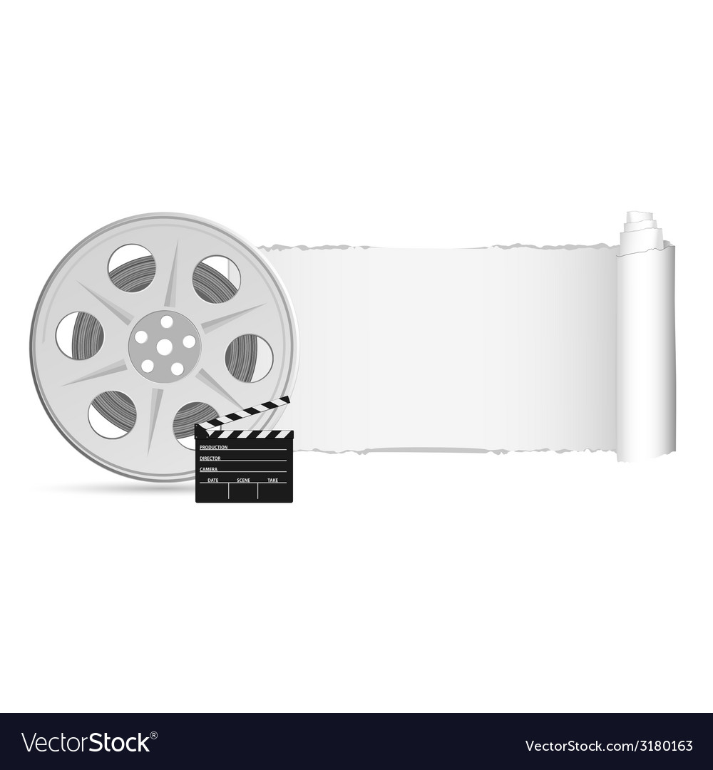 Film tape with tearing paper color vector | Price: 1 Credit (USD $1)