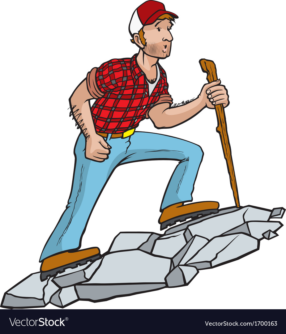 Manly hiker vector | Price: 1 Credit (USD $1)