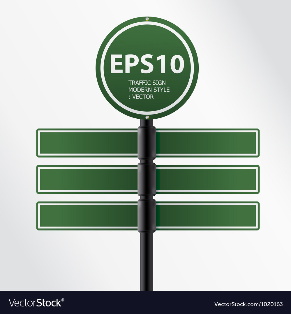 Modern green traffic sign vector | Price: 1 Credit (USD $1)