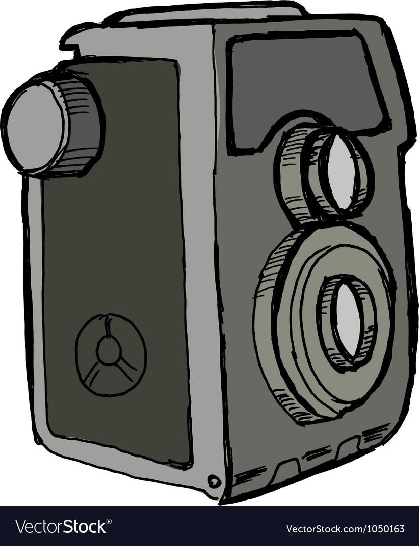 Old camera vector | Price: 1 Credit (USD $1)