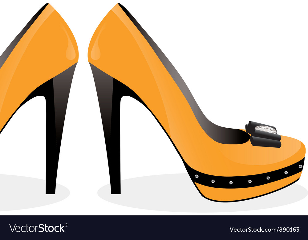 Pair of yellow shoes vector | Price: 1 Credit (USD $1)