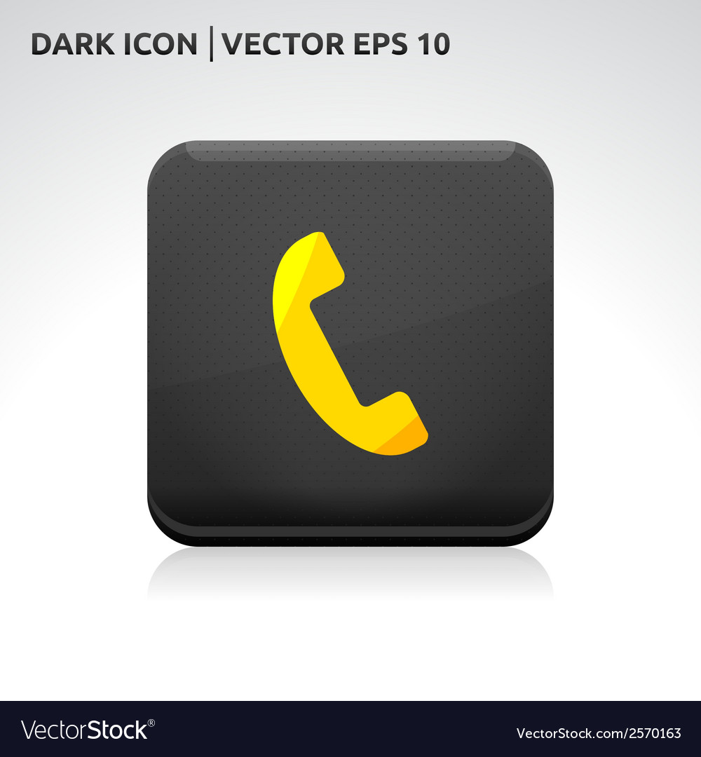 Phone icon gold vector | Price: 1 Credit (USD $1)