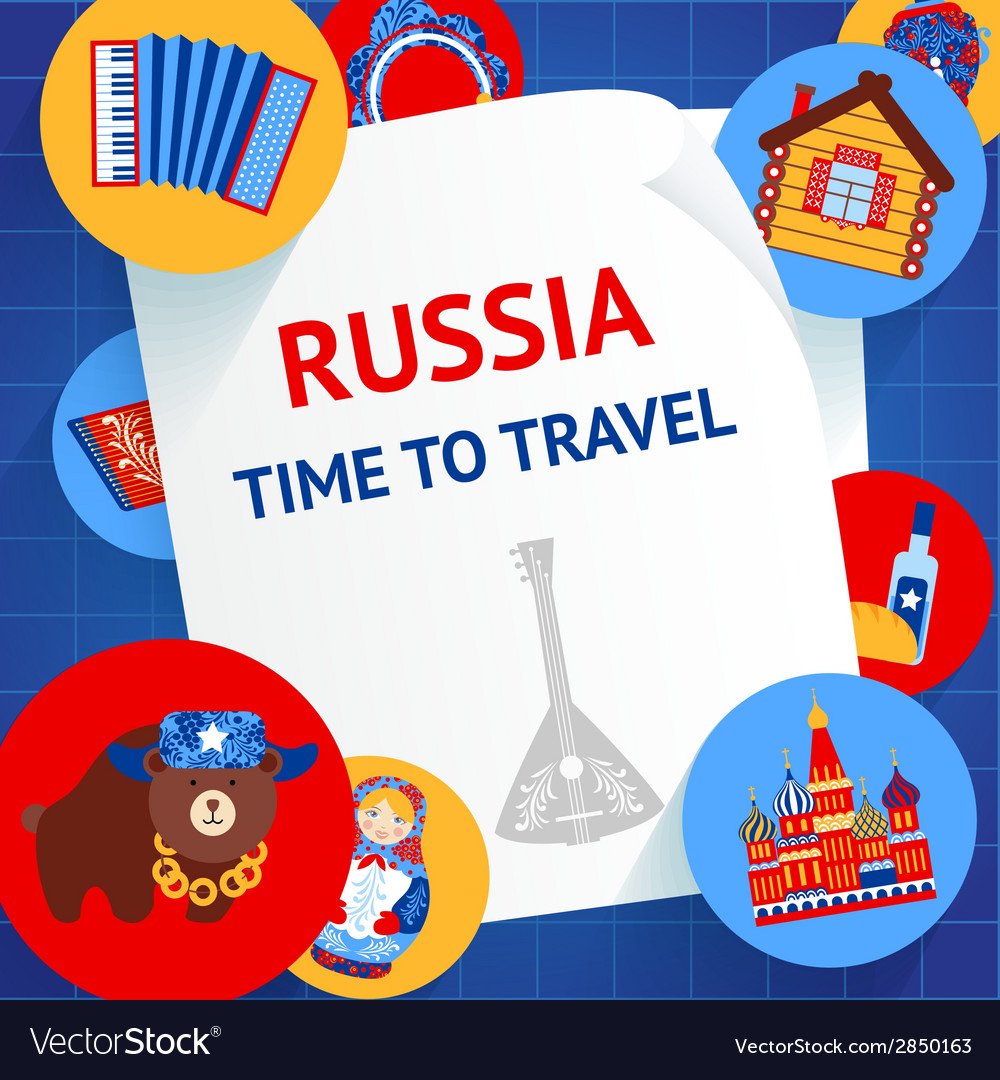 Russia background template vector | Price: 1 Credit (USD $1)
