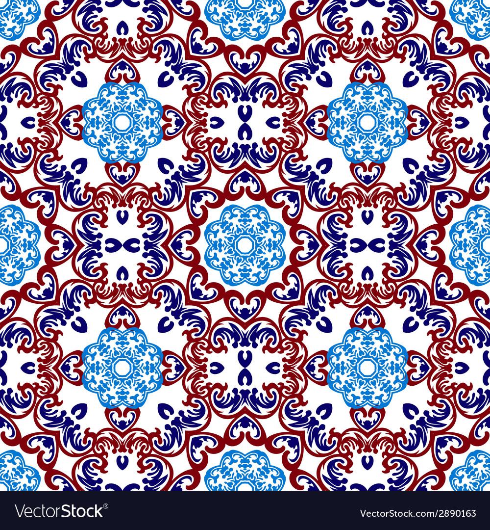 Seamless wallpaper islamic motif background vector | Price: 1 Credit (USD $1)
