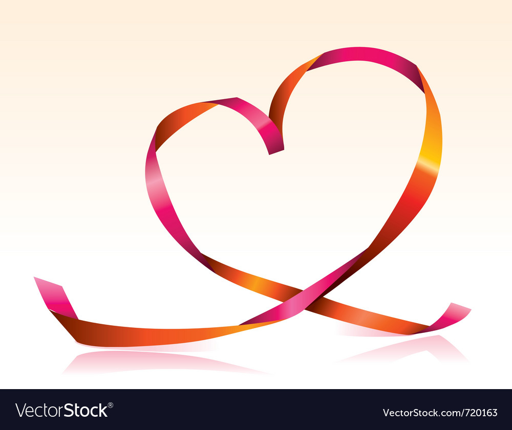 Streamer heart vector | Price: 1 Credit (USD $1)