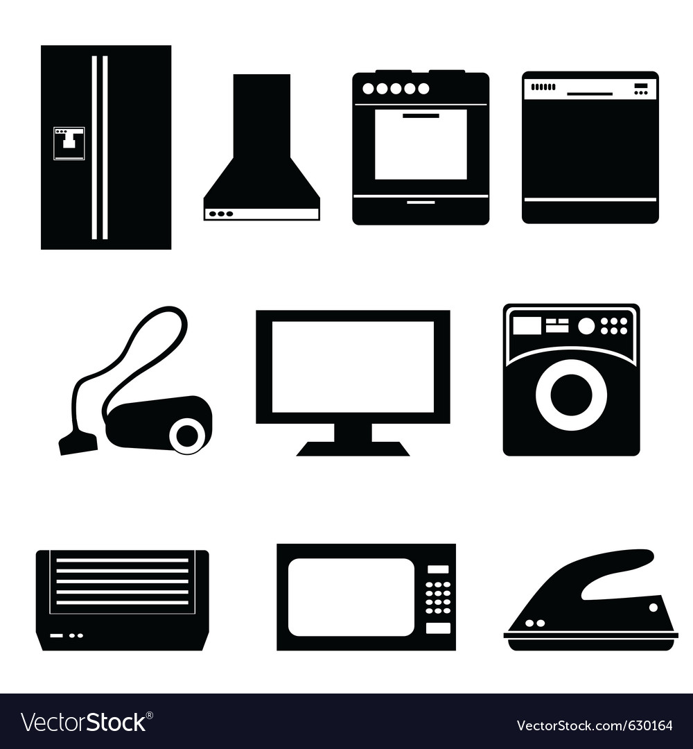 Appliance icons vector | Price: 1 Credit (USD $1)