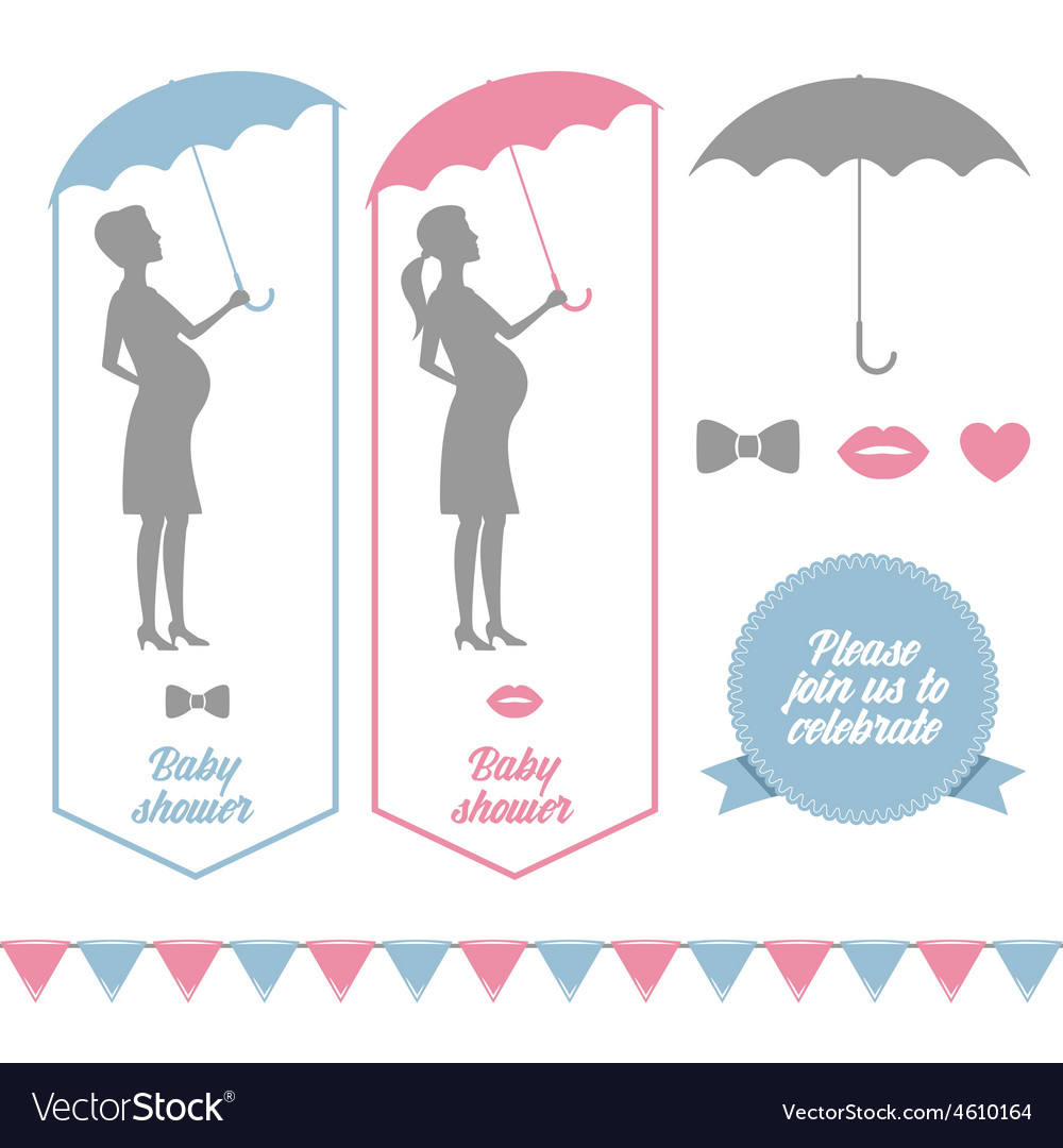 Baby shower design elements vector | Price: 1 Credit (USD $1)
