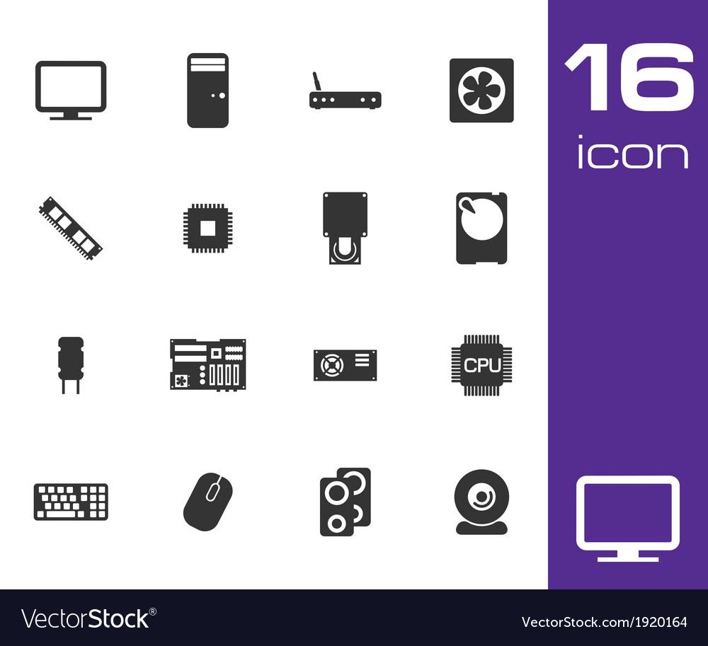 Black compass icons set vector | Price: 1 Credit (USD $1)