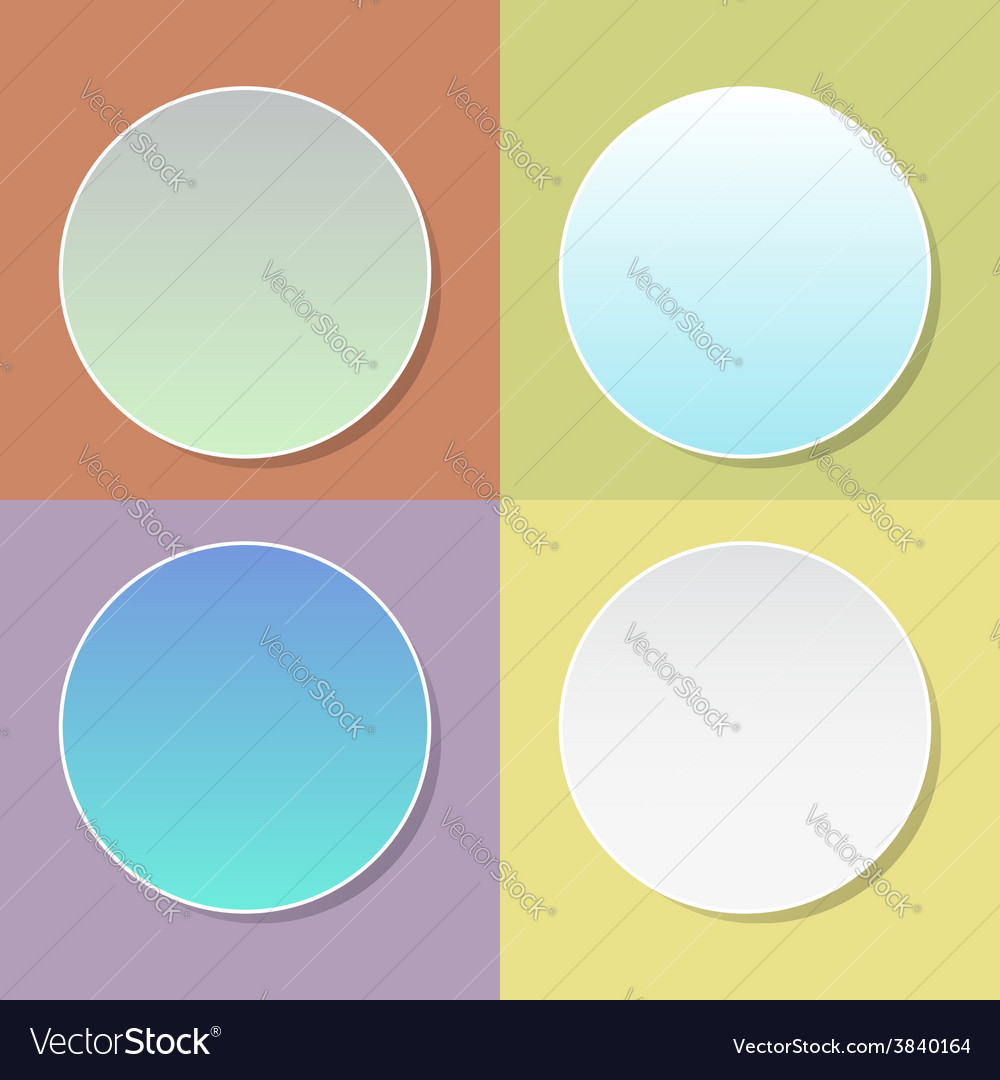 Blank badge template with shadow - four colo vector | Price: 1 Credit (USD $1)