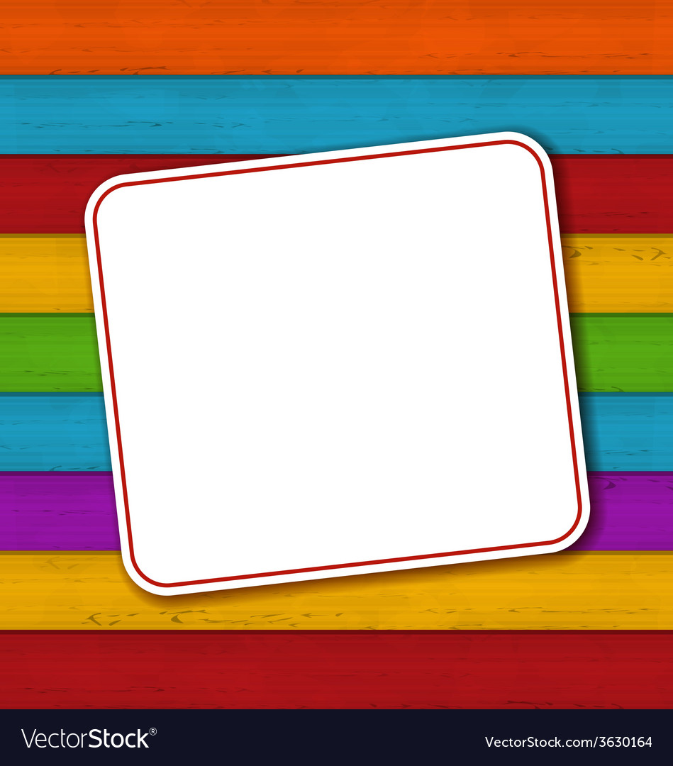 Celebration card on colorful wooden background vector | Price: 1 Credit (USD $1)