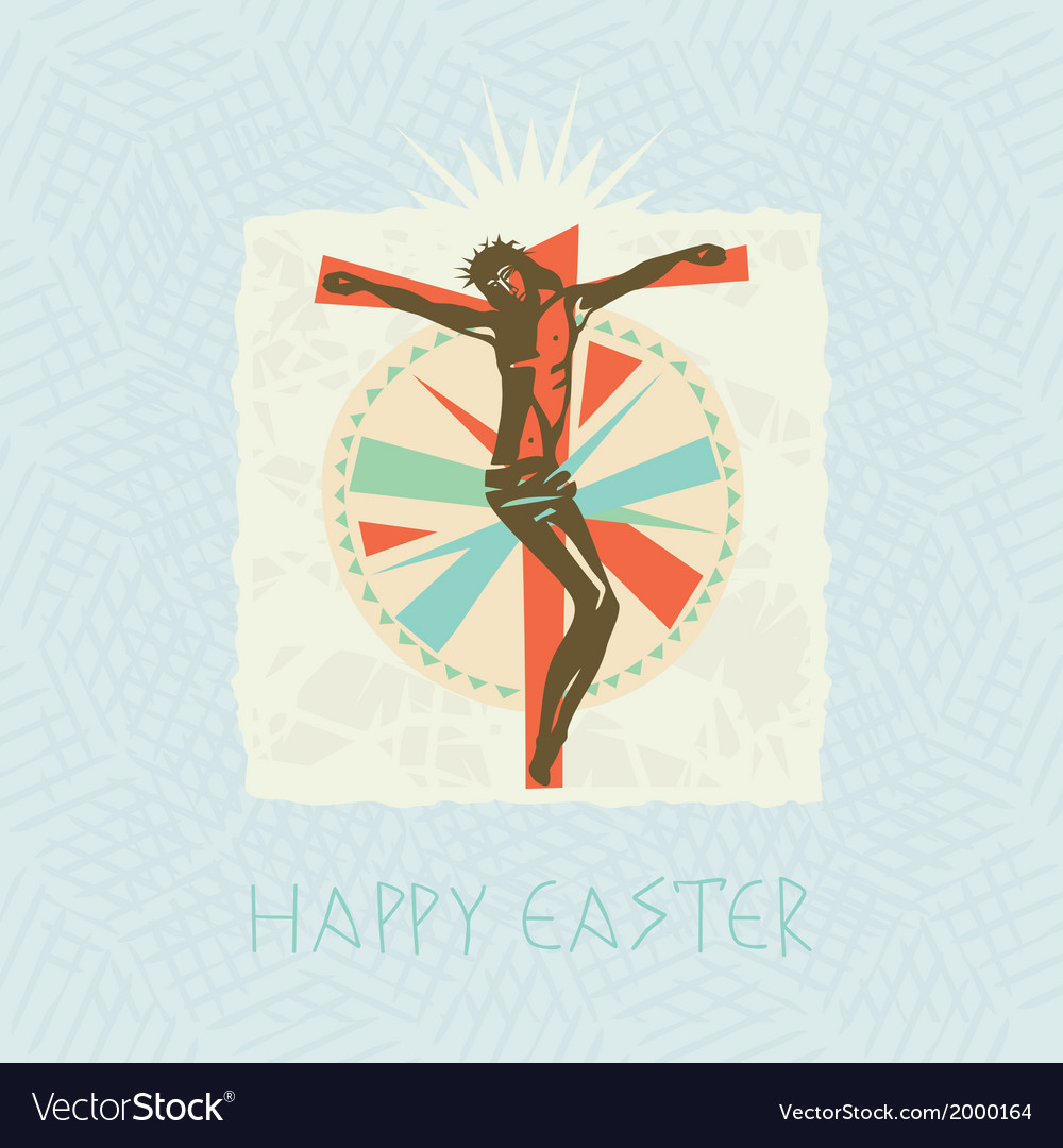 Christ easter card vector | Price: 1 Credit (USD $1)