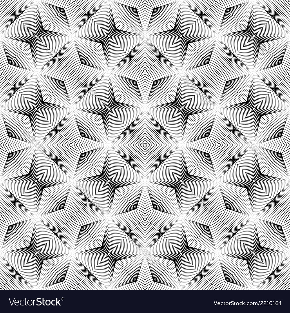 Design seamless monochrome diagonal pattern vector | Price: 1 Credit (USD $1)