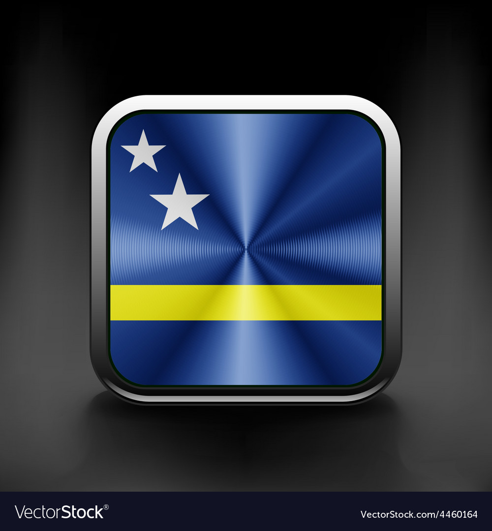 Flag of curacao national travel icon country vector   Price: 1 Credit (USD $1)