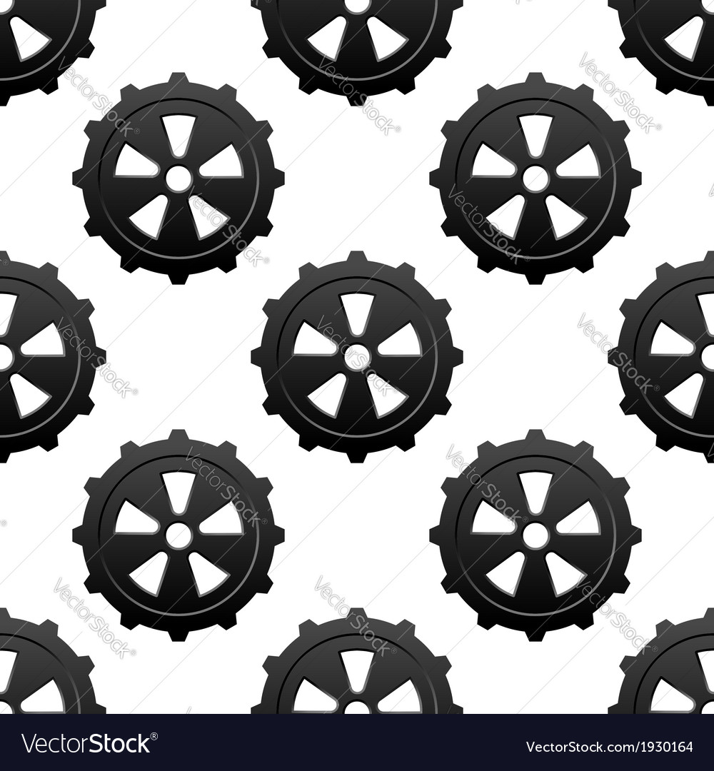 Gear and pinion seamless pattern vector | Price: 1 Credit (USD $1)