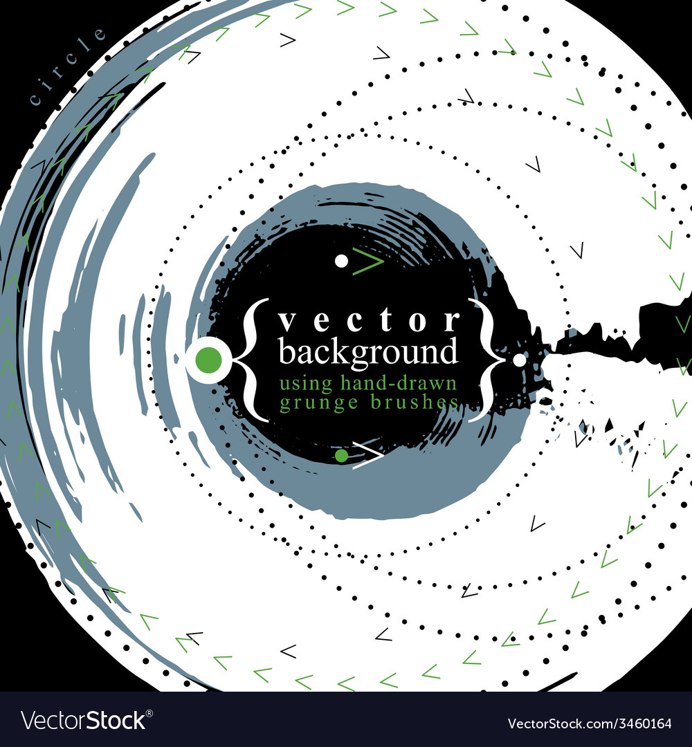 Grunge style round shaped abstract background ill vector | Price: 1 Credit (USD $1)