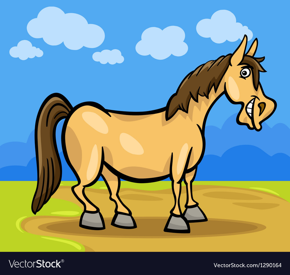 Horse farm animal cartoon vector   Price: 1 Credit (USD $1)