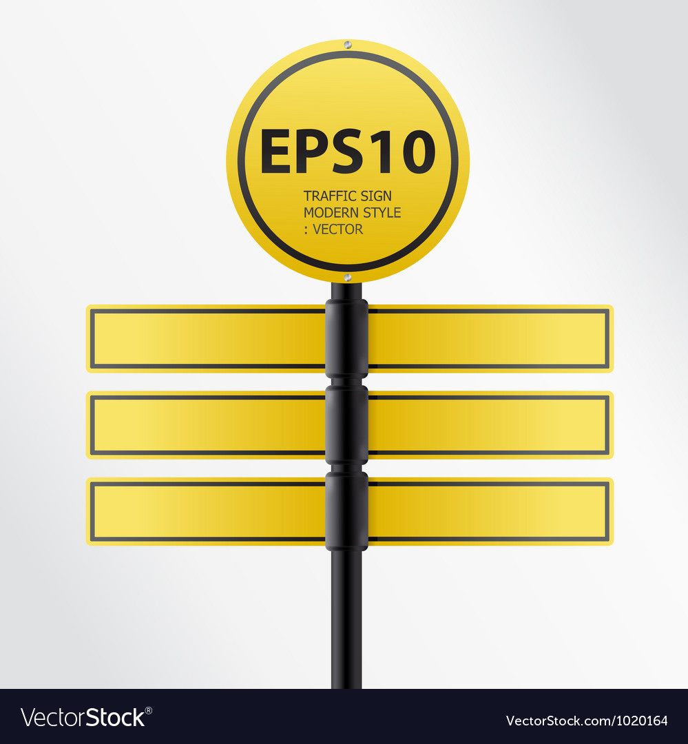 Modern yellow traffic sign vector | Price: 1 Credit (USD $1)