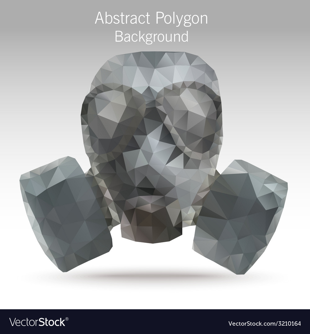 Polygongasmask vector | Price: 1 Credit (USD $1)
