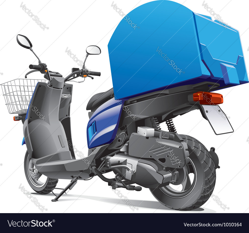 Scooter for delivery goods vector | Price: 5 Credit (USD $5)