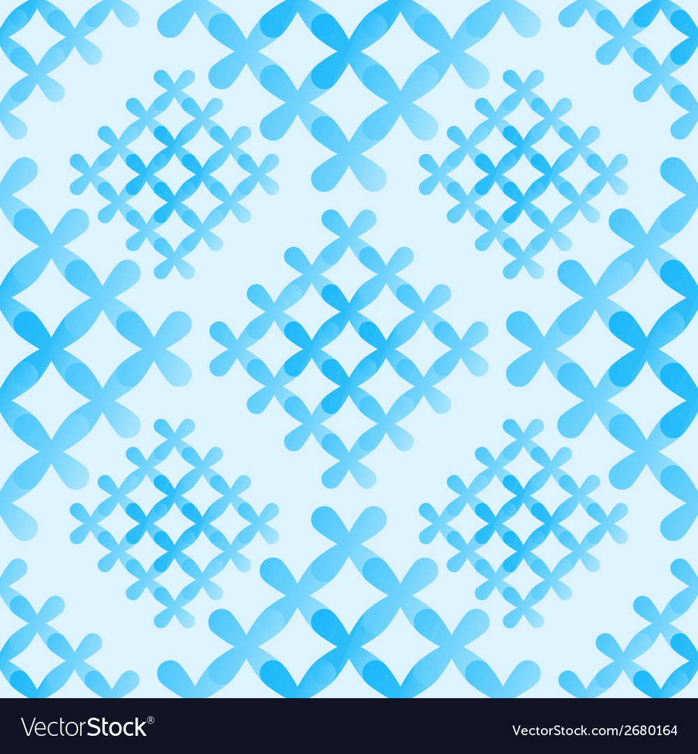 Soft blue crosses seamless pattern - abstract vector | Price: 1 Credit (USD $1)