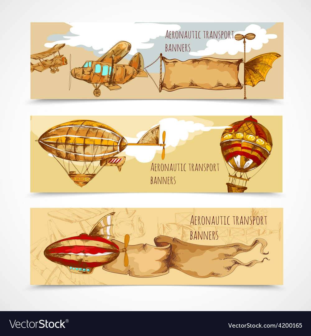 Aeronautic transport banners vector | Price: 1 Credit (USD $1)