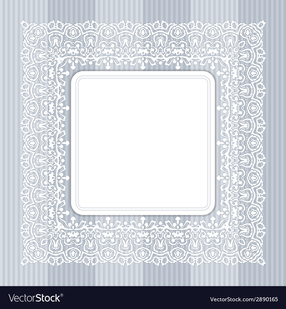 Border with swirls floral motif frame vector | Price: 1 Credit (USD $1)