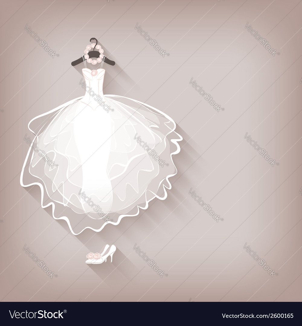 Bride dress and wreath vector | Price: 1 Credit (USD $1)