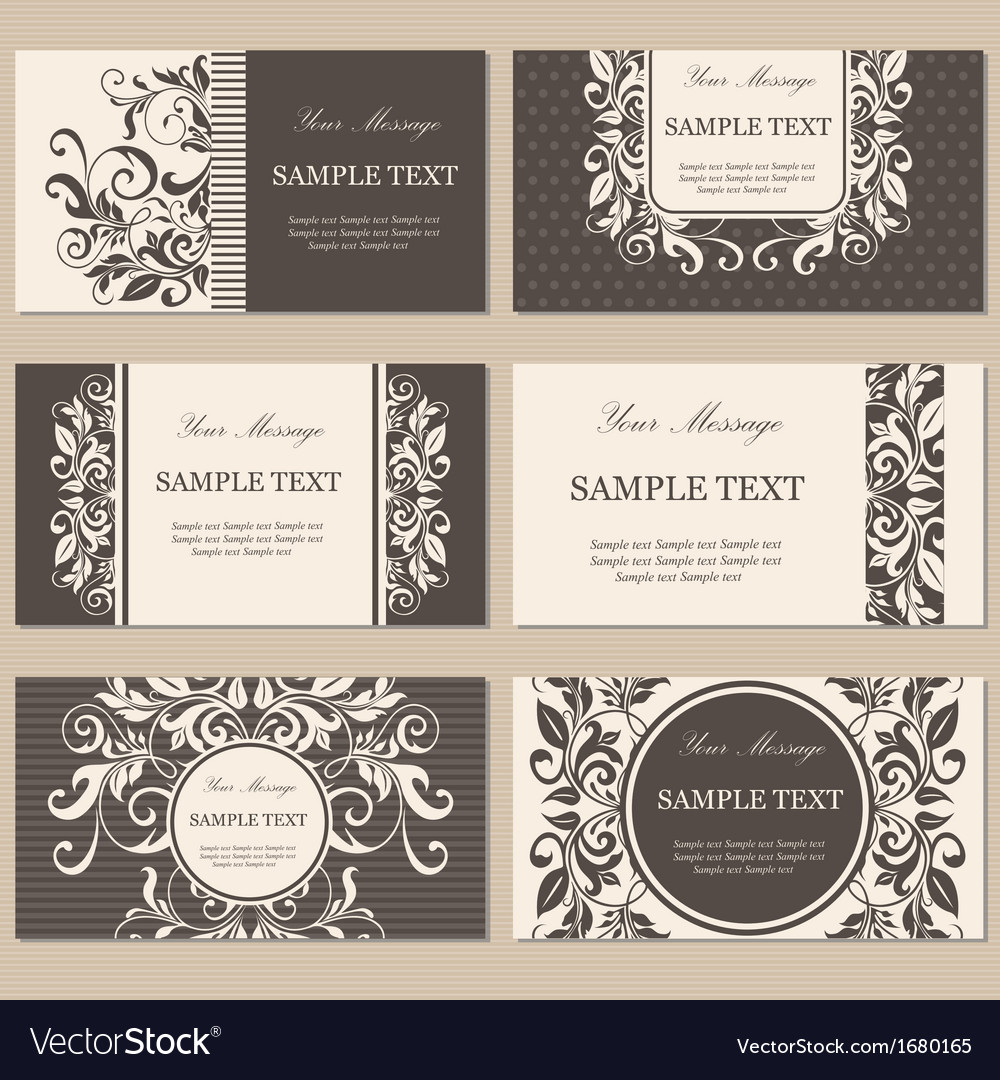 Cards set brown vector | Price: 1 Credit (USD $1)