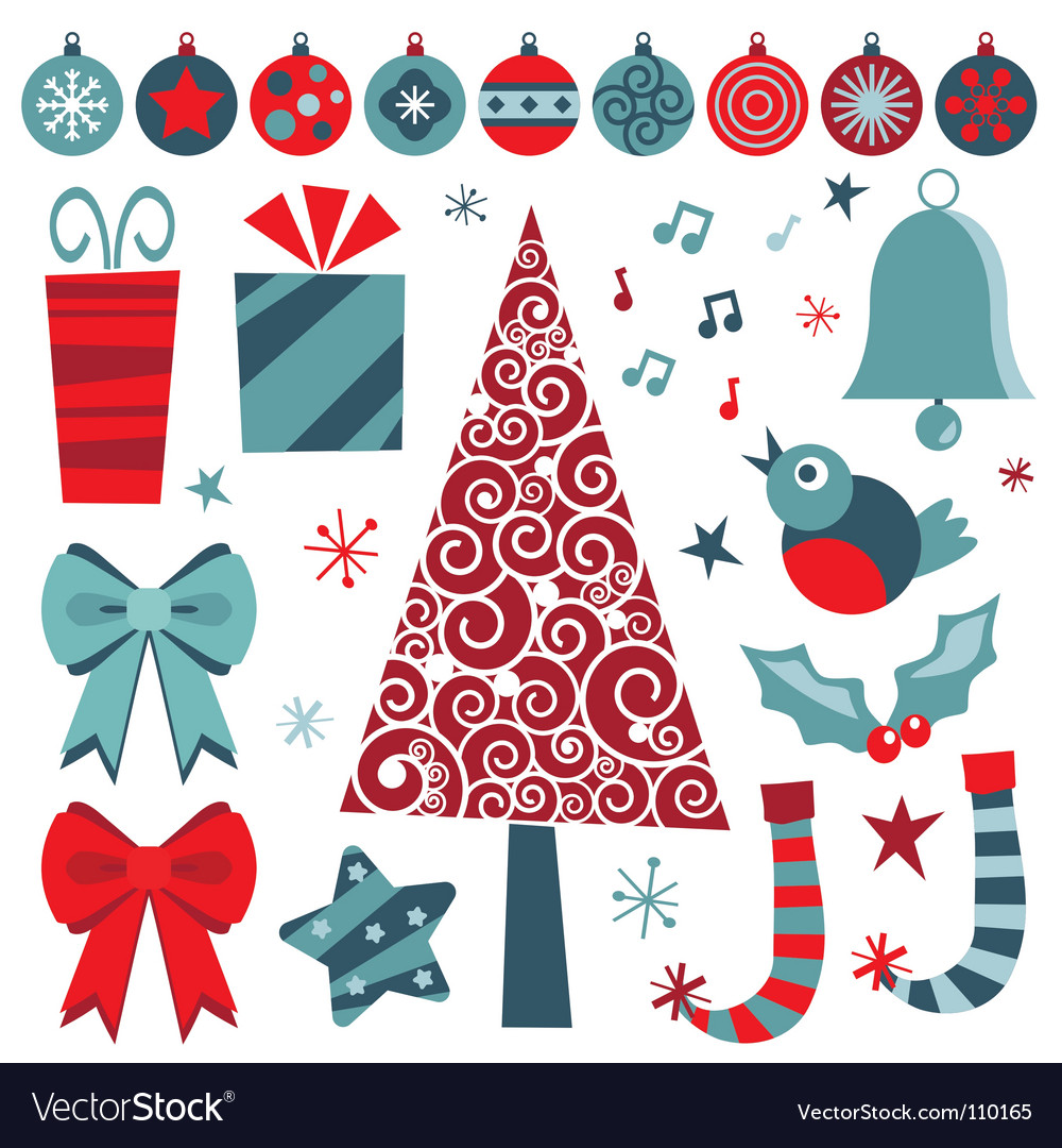 Christmas objects vector | Price: 1 Credit (USD $1)