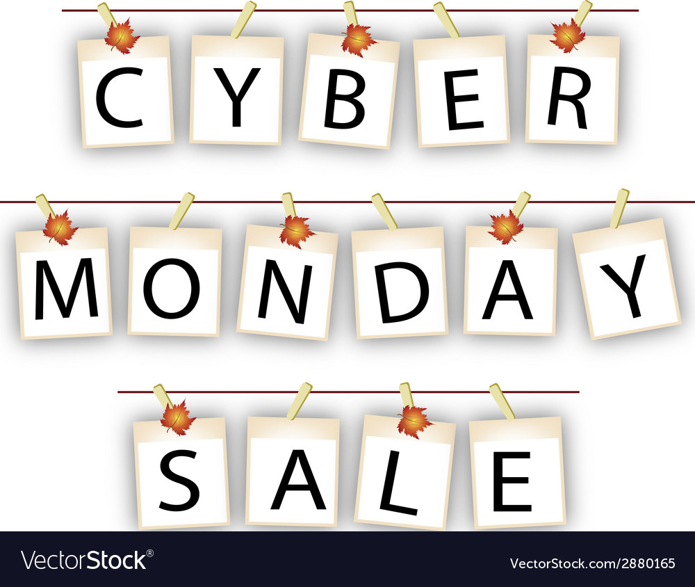 Cyber monday banner of blank photos with maple lea vector   Price: 1 Credit (USD $1)
