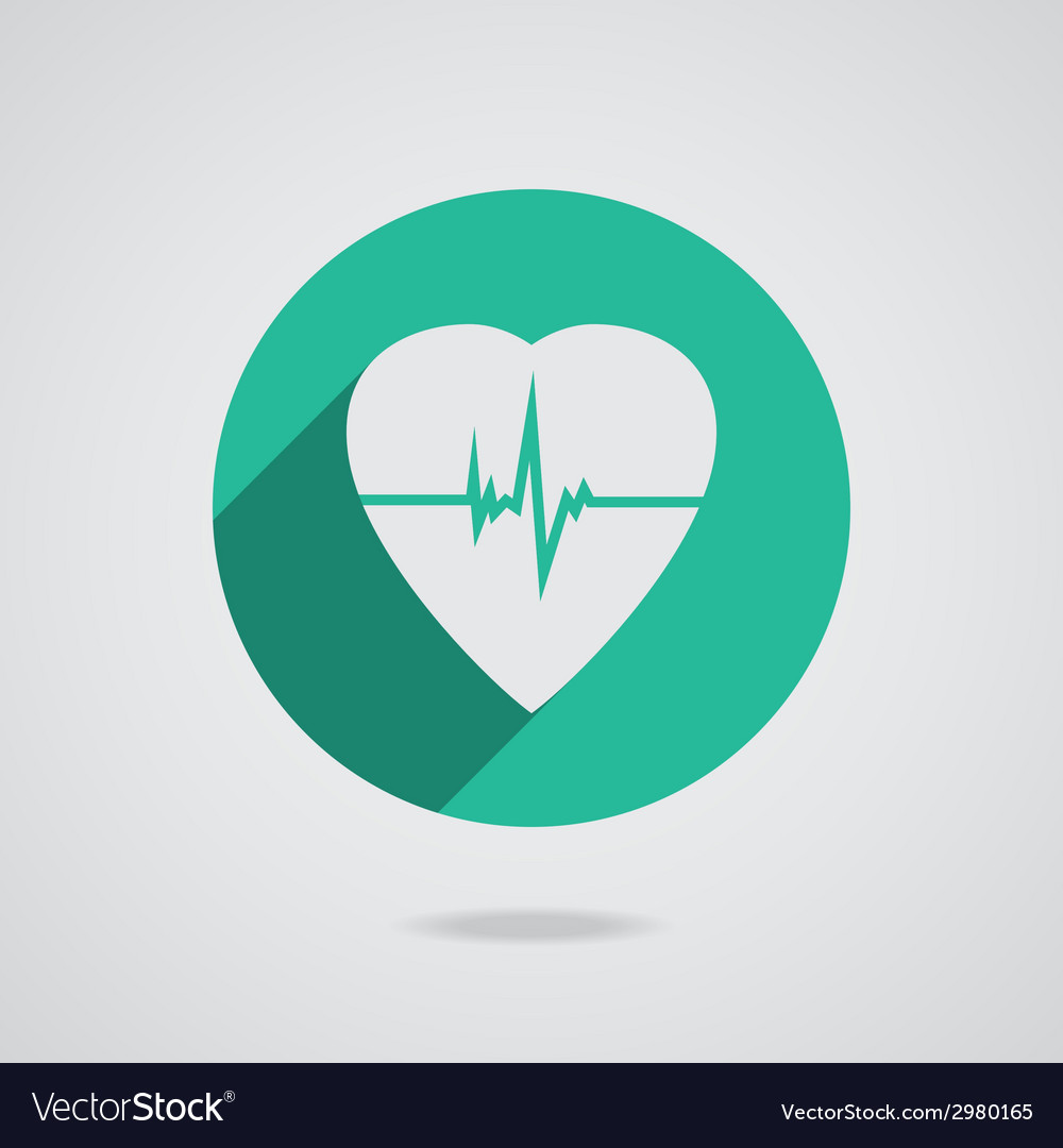 Defibrillator heart icon isolated on teal vector | Price: 1 Credit (USD $1)