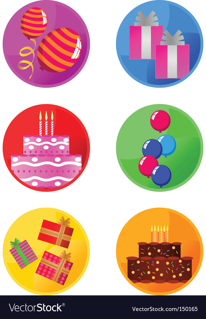 Icons party vector | Price: 1 Credit (USD $1)