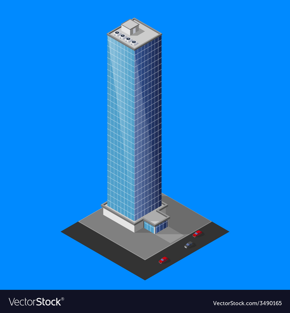 Isometric skyscraper building vector | Price: 1 Credit (USD $1)