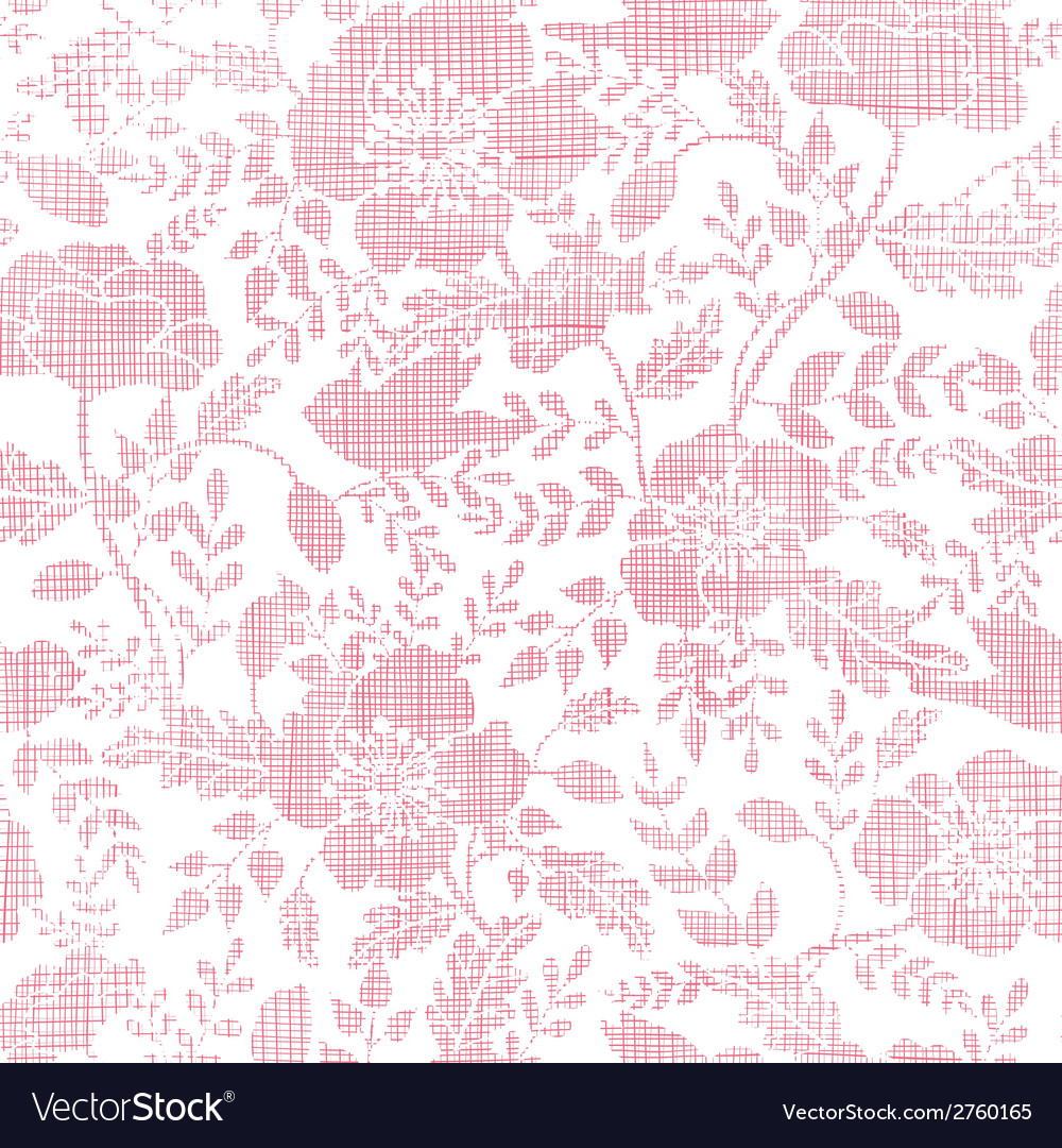 Pink textile birds and flowers seamless pattern vector | Price: 1 Credit (USD $1)