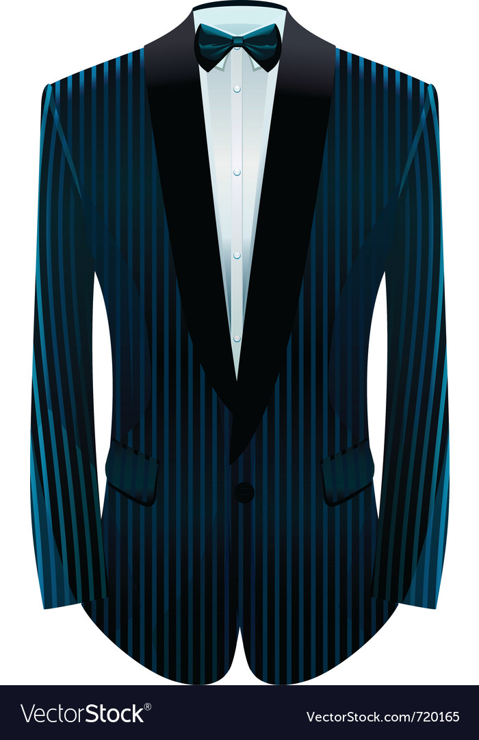 Striped tuxedo vector | Price: 1 Credit (USD $1)