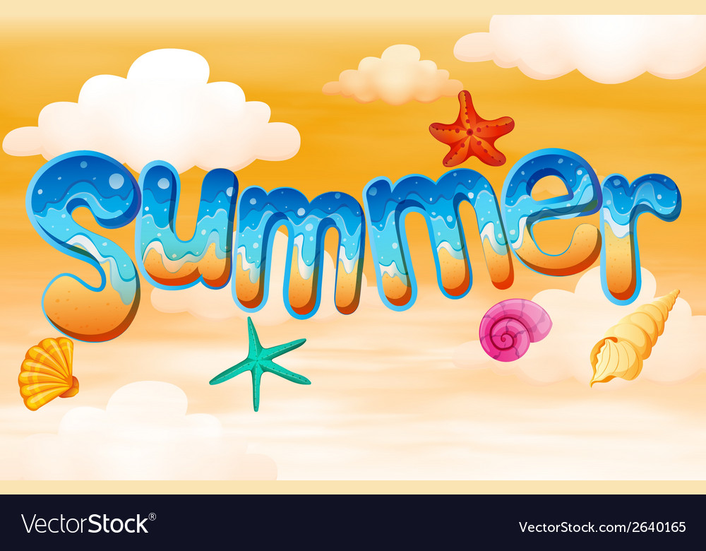 Summer artwork vector | Price: 1 Credit (USD $1)