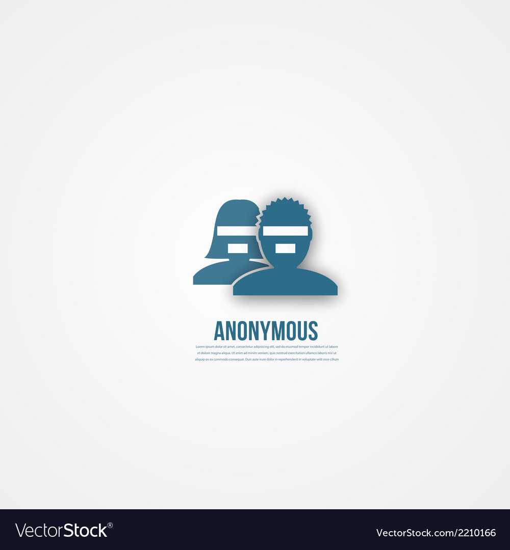 Abstact people template anonymous icon vector | Price: 1 Credit (USD $1)