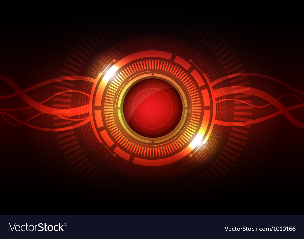 Abstract hi tech button vector | Price: 1 Credit (USD $1)