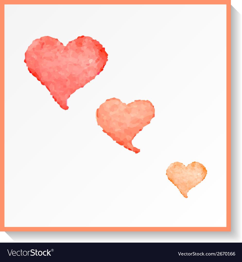 Abstract watercolor hearts vector | Price: 1 Credit (USD $1)